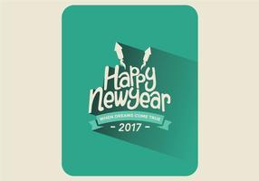 Felice anno nuovo carta vettoriale