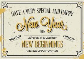 Vettore dorato del nuovo anno