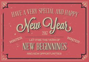 Speciale felice anno nuovo vettore