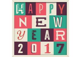 Felice nuovo anno 2017 vettoriale