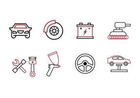 set di icone di garage