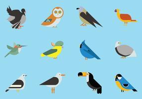 Collezione di icone di uccelli vettore