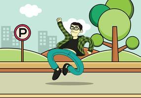 saltando per il vettore di gioia