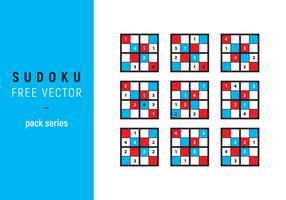 Sudoku illustrazione vettoriale gratuito