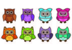 Set di icone Buho