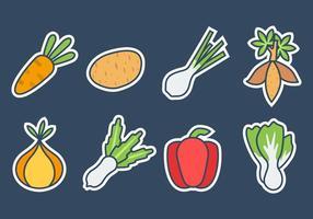 Vettore libero delle icone degli ortaggi freschi