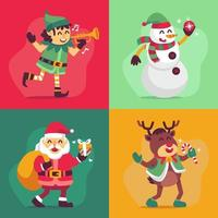 Babbo Natale e le collezioni di personaggi aiutanti