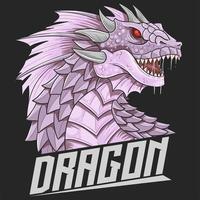 testa di drago in viola vettore