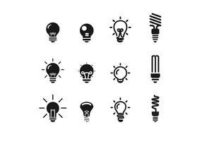 Set di icone vettoriali ampolla BW
