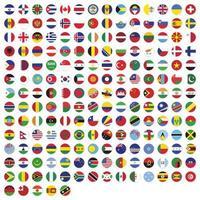 bandiere rotonde della collezione mondiale vettore