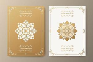 modello di biglietto di auguri ornamentali di lusso vettore