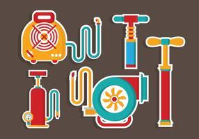 Vettore degli strumenti della pompa di aria di Colorfull piano