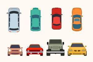 Raccolta di vettore di auto piatta