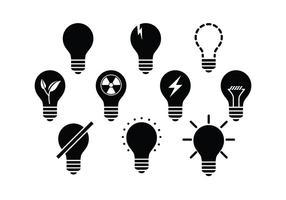 Vettore delle icone delle lampade