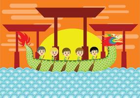 arte vettoriale festival barca drago