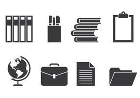 Icone educative vettore