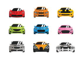 Stile di icone piane di vettore Carros