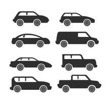 Vettori di auto icona semplice sagoma