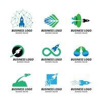 collezione di concetto di logo di razzo vettore