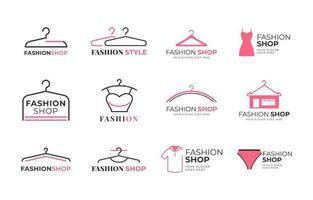 collezione di logo del negozio di moda vettore
