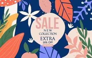 banner di vendita floreale colorato