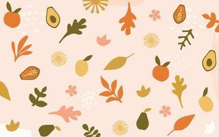 sfondo di foglie e fiori