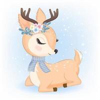 cervo con bouquet