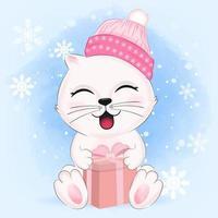 gattino con confezione regalo