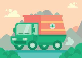Insieme di vettore del camion della spazzatura