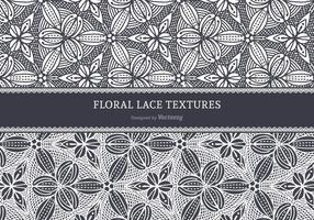 Texture vettoriali pizzo floreale