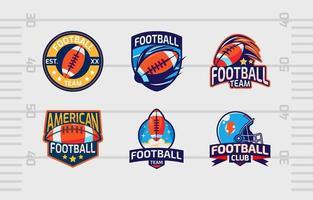 pacchetto logo sport di squadra per club di football americano vettore