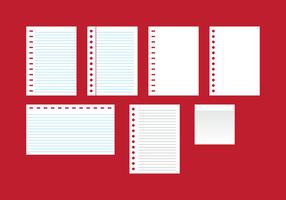 Vettore di note di blocco di carta