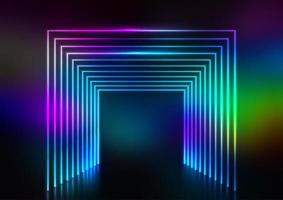 effetto tunnel al neon vettore