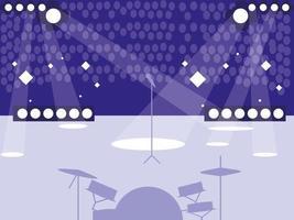 stadio con concerto rock vettore
