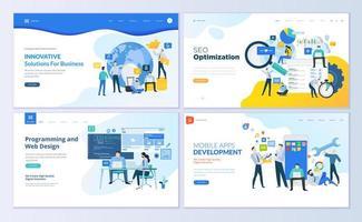 set di modelli di progettazione di pagine web