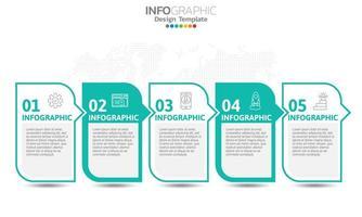 infografica per il concetto di business con le icone