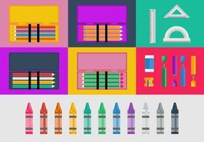 Vettore di casi di matita e colore