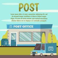sfondo di edifici comunali ufficio postale vettore