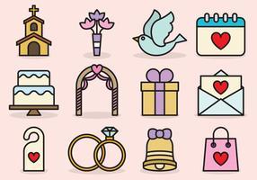 Icone di matrimonio carino