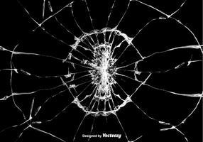 Illustrazione vettoriale di vetro incrinato