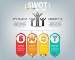 swot analisi aziendale infografica