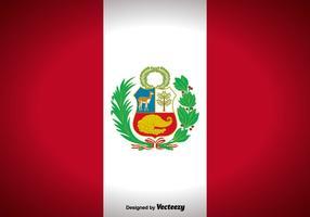Priorità bassa di vettore della bandierina del Perù