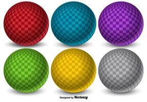 Sfere di Dodgeball di vettore 3D colorato
