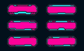 cornice futuristica hud per il gioco online digitale