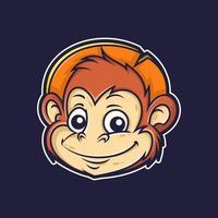 scimmia animale simpatico cartone animato