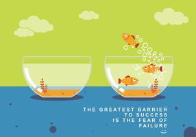 Volare pesce e successo concetto vettoriale