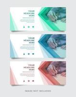 set di modelli di banner geometrici
