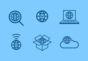 Internet Logo vettoriale gratuito