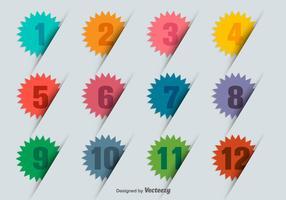 Punti della pallottola numerati Infographic 3D
