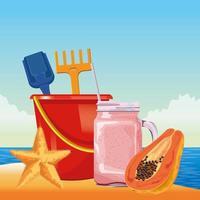 spiaggia estiva e concetto di vacanza
